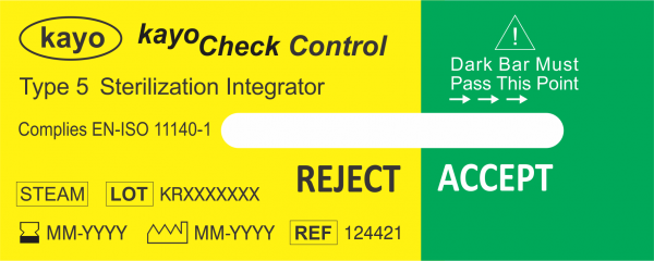Kayo Check Control Steam Indicator Type 5 - Unexposed